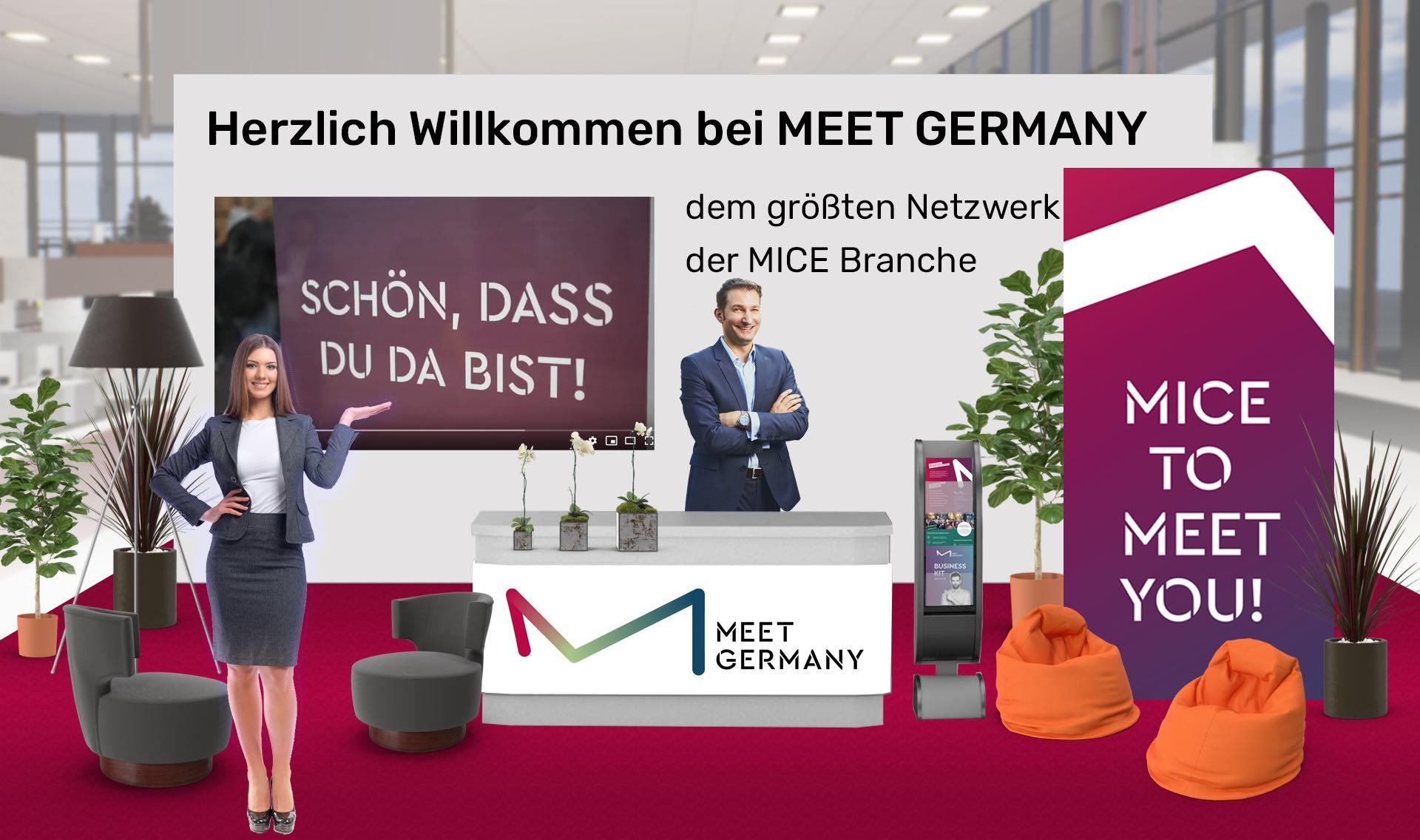 Messestand MEET GERMANY