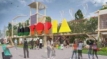 insglück, gtp2 architekten und studio grüngrau gestalten Biotopia auf Floriade 2022