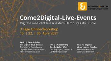 Neumann&Müller bietet Workshops über Digital Events