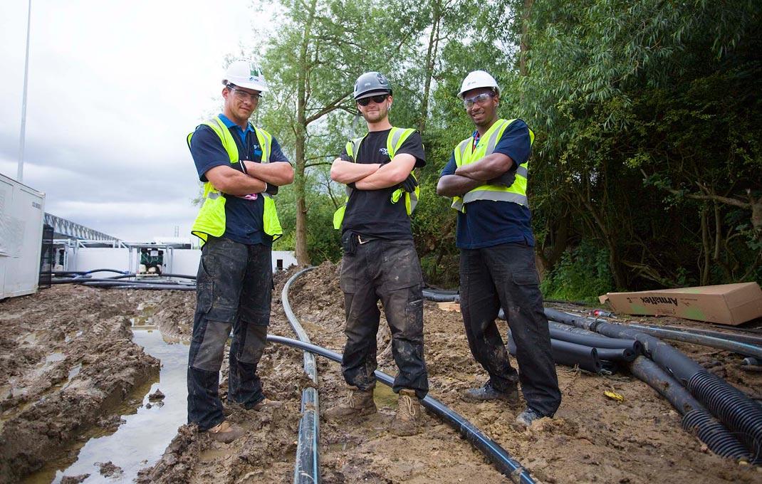 Das Errichten mobilen Wasserinfrastrukturen erfordert Weitblick & Wissen.