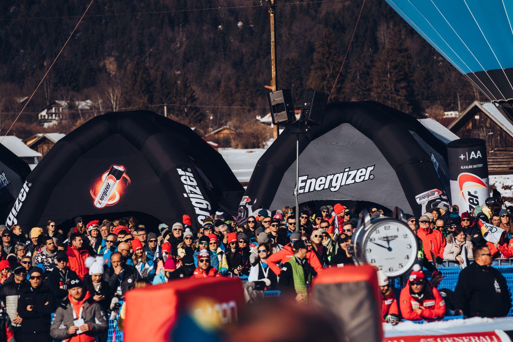 Energizer auf dem Audi FIS Ski Weltcup