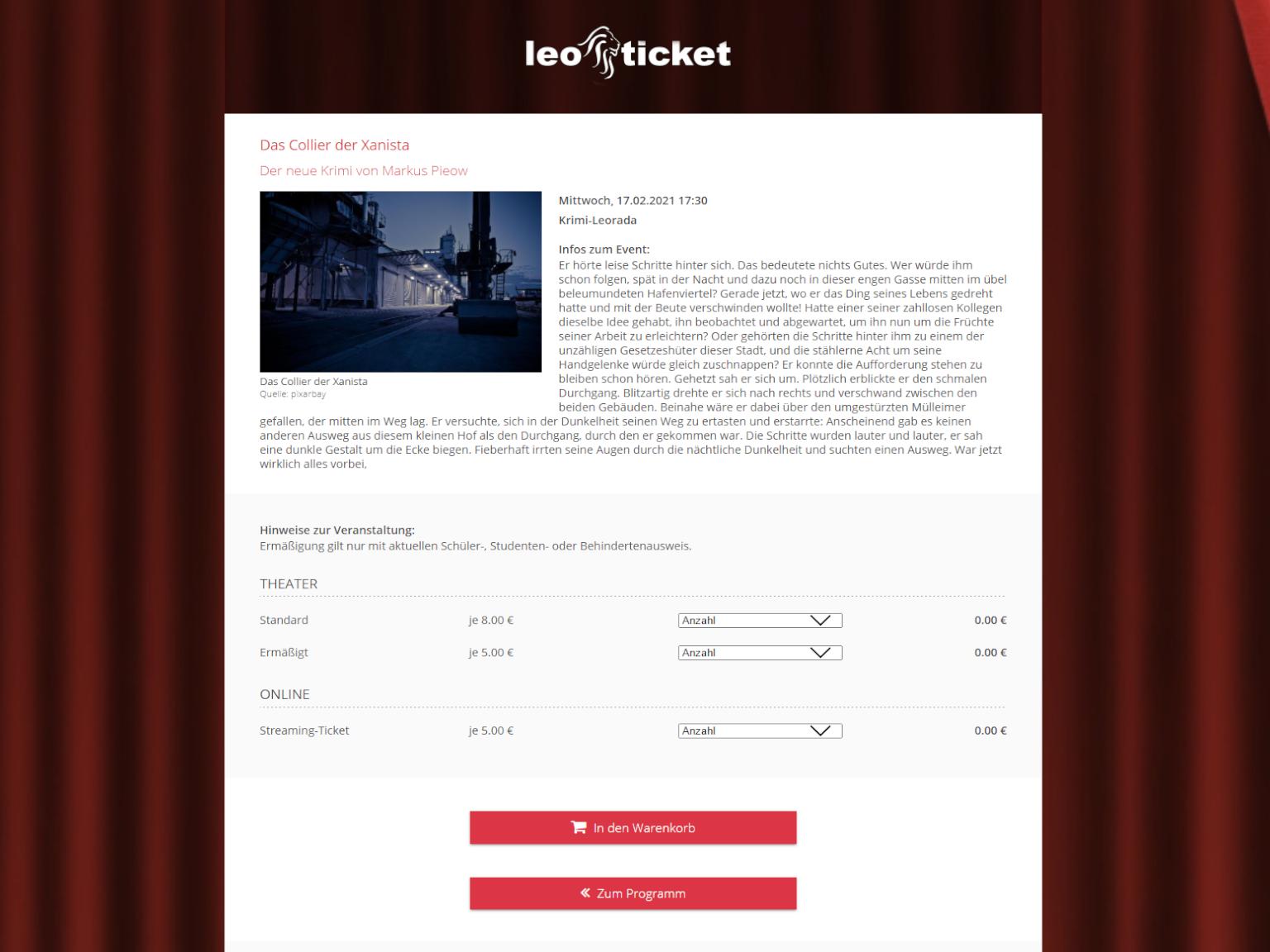 Tickets verkaufen